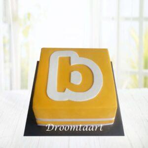 Droomtaart Logo taart 1 laag 4