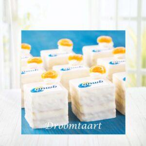 Droomtaart Petit Fours met logo
