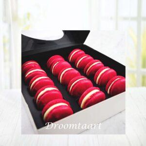 Droomtaart Red velvet macarons