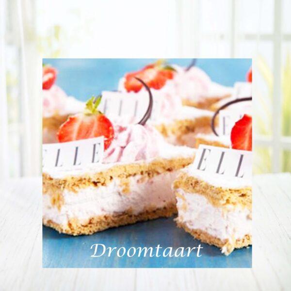 Droomtaart Tompouce met fruit en logo