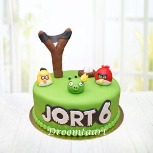 Angry Birds taart 1