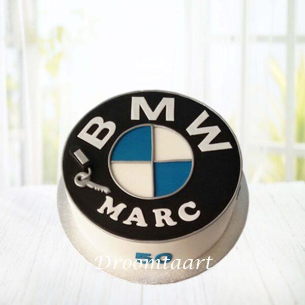 Droomtaart Auto taart BMW logo