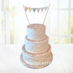 Droomtaart Botercreme taart met spikkels