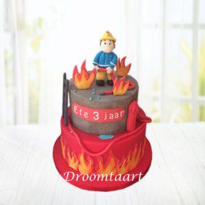 Droomtaart Brandweerman Sam taart 5