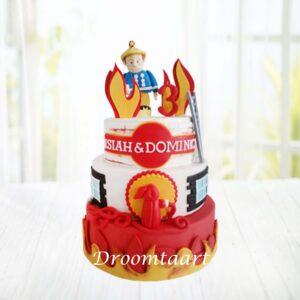 Droomtaart Brandweerman Sam taart 6
