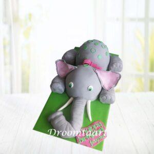 Droomtaart Dieren taart olifant 3D