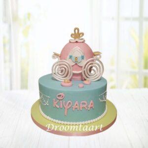 Droomtaart Disney prinsessenkoets taart