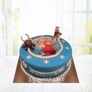Droomtaart Frozen taart 1