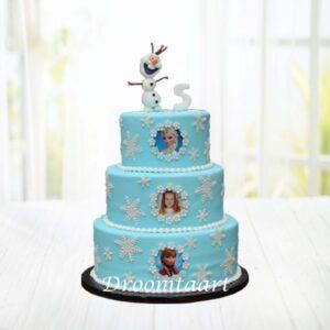 Droomtaart Frozen taart 12