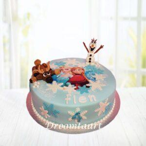 Droomtaart Frozen taart 2