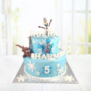 Droomtaart Frozen taart 6