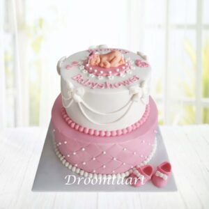 Droomtaart Geboorte taart meisje 4