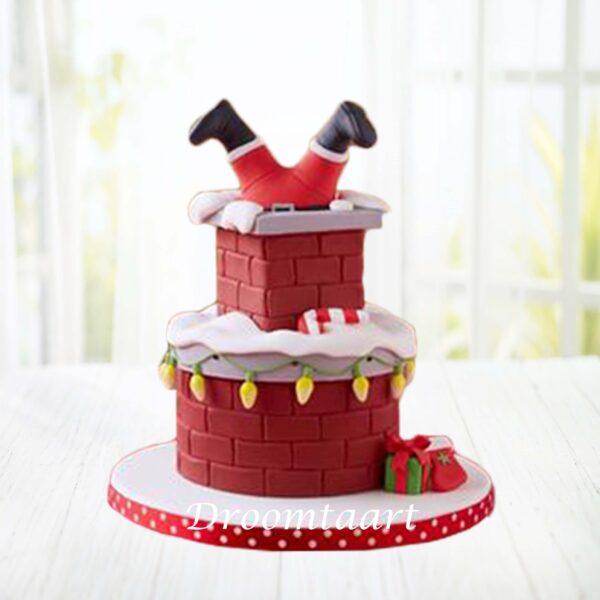 Droomtaart Kerst taart schoorsteen