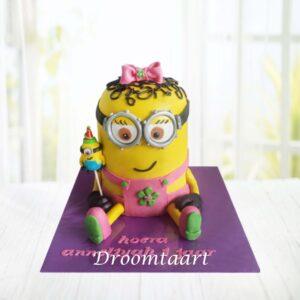 Droomtaart Minion taart meisje 3