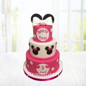 Droomtaart Minnie Mouse taart 12