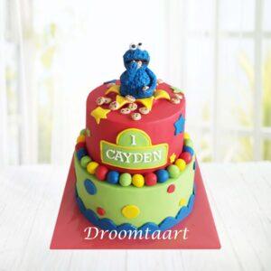 Droomtaart Sesamstraat taart Koekiemonster 3