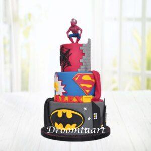 Droomtaart Superhelden taart 4