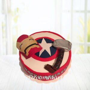 Droomtaart Superhelden taart Avengers 1