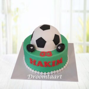 Droomtaart Voetbal taart 1