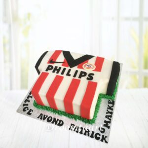 Droomtaart Voetbal taart PSV voetbalshirt