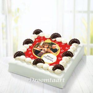 Droomtaart Kerst marsepein taart 2