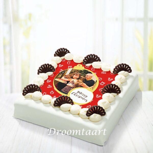 Kerst marsepein taart 2 met afbeelding