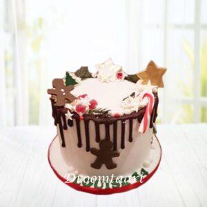 Droomtaart Kerst taart kerst drip cake