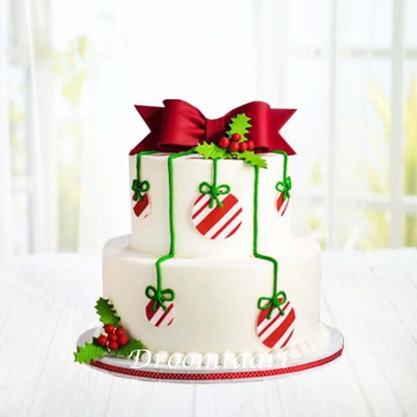 Droomtaart Kerst taart kerstballen