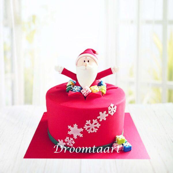 Droomtaart Kerst taart kerstman